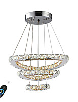 cheap -UMEI™ Circular / Crystal / Geometric Chandelier Ambient Light - Adjustable, Dimmable, New Design, 110-120V / 220-240V, Warm White / White / Dimmable With Remote Control, LED Light Source Included