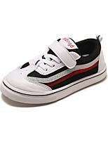 baratos -Para Meninos Sapatos Couro Ecológico Outono & inverno Conforto Tênis Caminhada Presilha para Infantil Branco / Preto / Vermelho