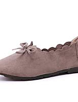Недорогие -Жен. Обувь Полиуретан Лето Удобная обувь На плокой подошве На плоской подошве Круглый носок Черный / Кофейный / Розовый