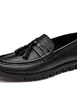 Недорогие -Муж. Комфортная обувь Наппа Leather Наступила зима На каждый день Мокасины и Свитер Нескользкий Черный / С кисточками