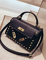 cheap -Women's Bags PU(Polyurethane) Tote Buttons White / Black / Brown