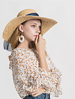 cheap -Women's Basic Straw Hat - Solid Colored Bow / Spring / Fall