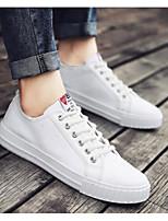 Недорогие -Муж. Комфортная обувь Полотно Весна & осень На каждый день Кеды Белый / Черный / Зеленый