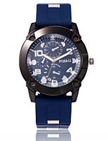 baratos -Homens Relógio Militar / Relógio de Pulso Chinês Relógio Casual PU Banda Casual / Fashion Preta / Azul / Verde