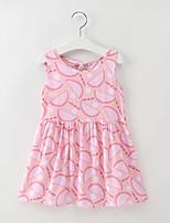 preiswerte -Kinder / Baby Mädchen Frucht Ärmellos Kleid