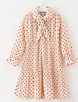 cheap -Kids Girls' Polka Dot Long Sleeve Dress