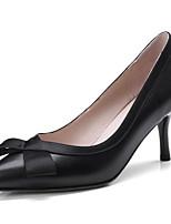 Недорогие -Жен. Наппа Leather Весна На каждый день Обувь на каблуках На шпильке Черный / Бежевый / Розовый