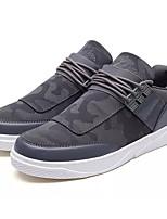 Недорогие -Муж. Полотно / Полиуретан Лето Удобная обувь Кеды Черный / Темно-серый / Светло-серый