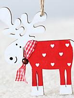economico -Ornamenti di Natale Vacanza di legno Quadrato Originale Decorazione natalizia