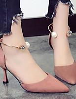 Недорогие -Жен. Комфортная обувь Полиуретан Весна & осень Обувь на каблуках На шпильке Черный / Бежевый / Розовый