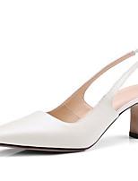 abordables -Femme Chaussures Cuir Nappa Eté Escarpin Basique Chaussures à Talons Talon Aiguille Noir / Beige / Jaune