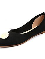 Недорогие -Жен. Обувь Трикотаж / Эластичная ткань Лето Удобная обувь На плокой подошве На плоской подошве Заостренный носок Черный / Бежевый / Красный