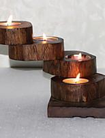 Недорогие -Простой стиль деревянный Подсвечники Канделябр 1шт, Свеча / подсвечник