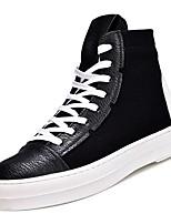 cheap -Men's PU(Polyurethane) Fall Comfort Sneakers White / Black