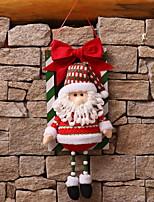 abordables -Décorations de Noël Vacances Tissu Carré Nouveautés Décoration de Noël
