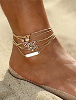 cheap -Layered Anklet Ankle Bracelet - Heart, Love, Infinity Vintage, Bohemian, Fashion Gold For Gift Evening Party Women's