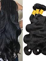 abordables -3 offres groupées Cheveux Indiens / Cheveux Mongoliens Ondulation naturelle Non Traités / Cheveux humains Cadeaux / Costumes Cosplay / Tissages de cheveux humains 8-28 pouce Tissages de cheveux