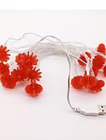 cheap -3m String Lights 20 LEDs 2835 SMD Red Waterproof / USB / Decorative 12 V 1 set