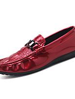 baratos -Homens Sapatos Confortáveis Couro Ecológico Outono & inverno Casual Mocassins e Slip-Ons Não escorregar Preto / Vermelho