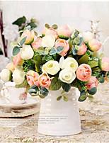 Недорогие -Искусственные Цветы 1 Филиал Классический / Односпальный комплект (Ш 150 x Д 200 см) Стиль / Пастораль Стиль Камелия Букеты на стол
