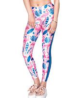 preiswerte -Damen Alltag Grundlegend Legging - Geometrisch / Einfarbig Mittlere Taillenlinie