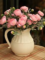 Недорогие -Искусственные Цветы 3 Филиал Классический / Односпальный комплект (Ш 150 x Д 200 см) Стиль / Пастораль Стиль лотос Букеты на стол