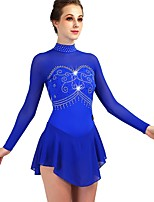 cheap -Figure Skating Dress Women's / Girls' Ice Skating Dress Royal Blue High Elasticity Performance / Practise Skating Wear Classic / Sexy Long Sleeve Ice Skating / Outdoor Exercise / Figure Skating