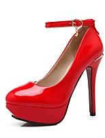 Недорогие -Жен. Обувь Лакированная кожа Весна лето Удобная обувь Обувь на каблуках На шпильке Черный / Бежевый / Красный