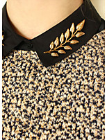cheap -Women's Retro Brooches - Leaf Punk Brooch Gold / Silver For Daily