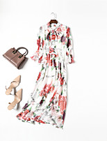 cheap -MMLJ Women's Basic / Elegant Sheath Dress - Floral