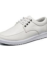 Недорогие -Муж. Комфортная обувь Полиуретан Осень Кеды Дышащий Белый / Черный / Синий