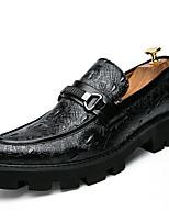 Недорогие -Муж. Официальная обувь Искусственная кожа Осень Мокасины и Свитер Контрастных цветов Черный / Красный / Синий / Свадьба / Для вечеринки / ужина