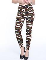 economico -Per donna Quotidiano Essenziale Gambale - Camouflage Vita normale