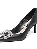 Недорогие -Жен. Обувь Наппа Leather Весна Удобная обувь Обувь на каблуках На шпильке Черный / Бежевый