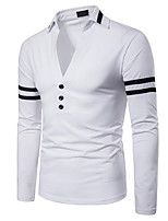 cheap -Men's Active Polo - Solid Colored Patchwork
