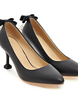 Недорогие -Жен. Обувь Полиуретан Весна Туфли лодочки Обувь на каблуках На шпильке Белый / Черный