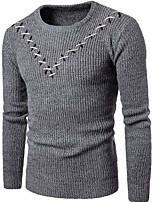 cheap -Men's Basic Pullover - Striped / Geometric