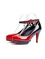 Недорогие -Жен. Комфортная обувь Полиуретан Осень Обувь на каблуках На шпильке Черный / Винный