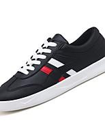 Недорогие -Муж. Комфортная обувь Полиуретан Осень Кеды Контрастных цветов Белый / Черный / Красный