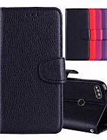 abordables -Coque Pour Huawei Honor 8 / Honor 7X Porte Carte / Avec Support / Clapet Coque Intégrale Couleur Pleine Dur faux cuir pour Huawei Honor 9 Lite / Honor 8 / Honor 7X