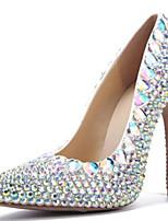 economico -Per donna Scarpe Vernice Primavera estate Decolleté scarpe da sposa A stiletto Appuntite Fiocco / Perle / Brillantini Arcobaleno / Matrimonio