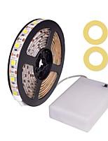 preiswerte -ZDM® 1m Flexible LED-Leuchtstreifen 60 LEDs SMD5050 Warmes Weiß / Kühles Weiß / Rot Wasserfest / Dekorativ / Selbstklebend AA-Batterien angetrieben 1 set