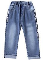 baratos -Infantil Para Meninas Básico Sólido / Geométrica Algodão Jeans