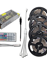 cheap -HKV 4x5M Light Sets / RGB Strip Lights 1200 LEDs 3528 SMD RGB Cuttable / Linkable / Self-adhesive 100-240 V 1set