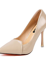 Недорогие -Жен. Балетки Полиуретан Лето Обувь на каблуках На шпильке Заостренный носок Белый / Черный / Коричневый