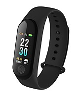 cheap -Smart Bracelet Smartwatch YY-M3PLus for Android iOS Bluetooth Waterproof Heart Rate Monitor Blood Pressure Measurement Touch Screen Calories Burned Pedometer Call Reminder Activity Tracker Sleep