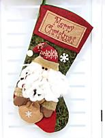 baratos -Meias de Natal Férias Poliéster Quadrada Novidades Decoração de Natal