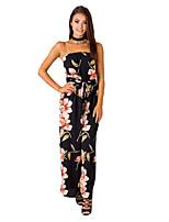 cheap -Women's Active / Basic Jumpsuit - Floral / Geometric, Print