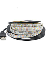 cheap -1m Flexible LED Light Strips 60 LEDs SMD3528 Warm White / Cold White Waterproof / USB / Decorative 5 V 1pc