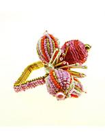 preiswerte -Klassisch Glas / Kunststoff Quadratisch Servietten Ring Solide Blume Tischdekorationen 12 pcs